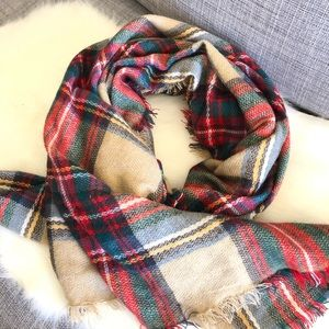 ModCoth Accessory Depot Plaid Blanket Scarf